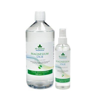 Magnesium voordeel-pakket 1000 ml en 200 ml olie