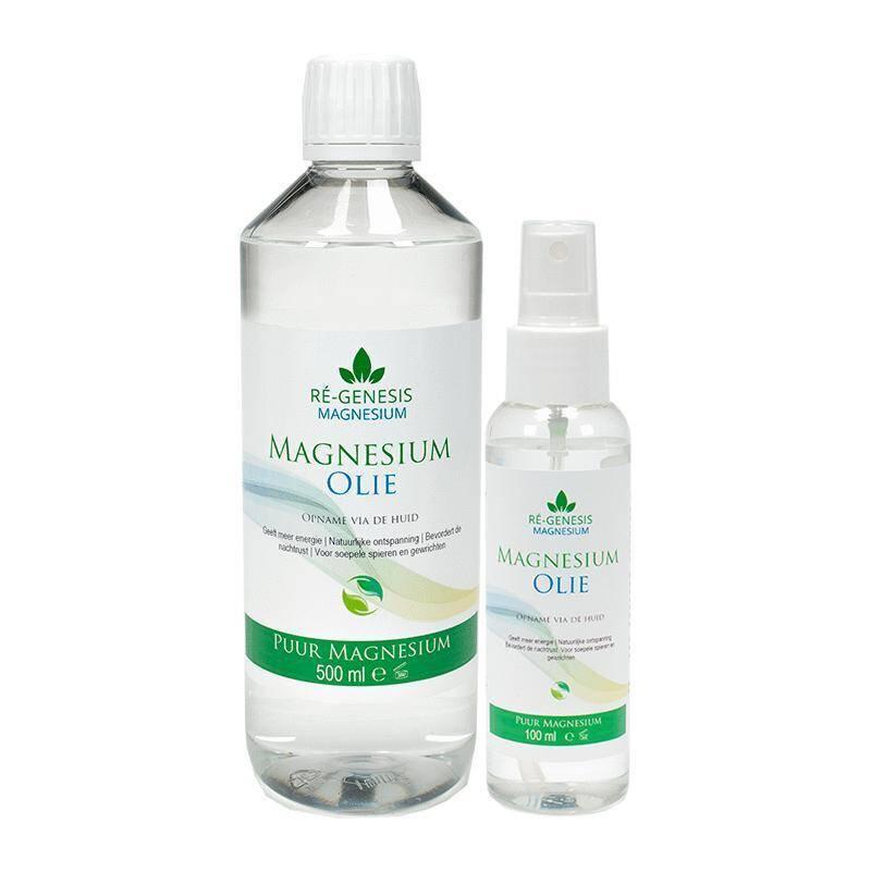 Magnesium voordeel-pakket 500 ml en 100 ml olie