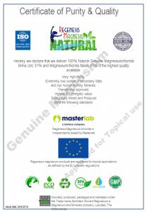 Certificate Regenesis-magnesium