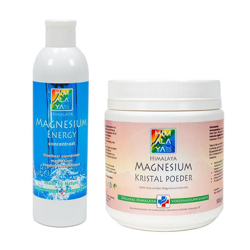 Himalaya vloeibaar en magnesium poeder