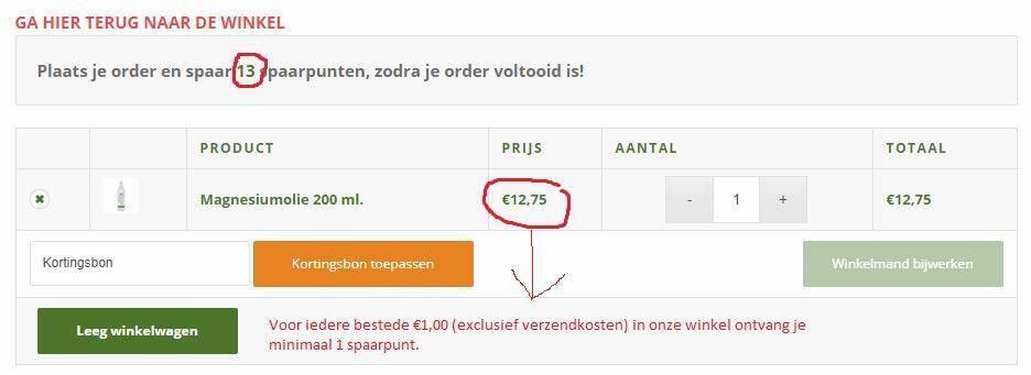 Voor iedere bestede €1,00 (exclusief verzendkosten) in onze winkel ontvang je minimaal 1 spaarpunt.