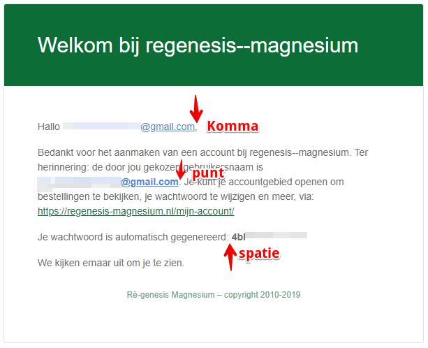 account regenesis magnesium