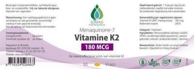 Etiket Vitamine K2 180 mcg per Vcap