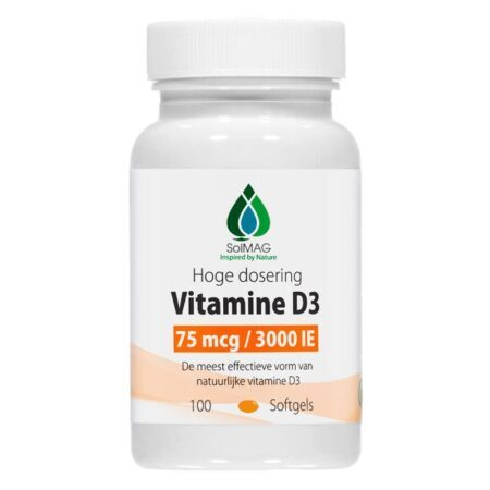 Vitamine D3 3000 IE - 75 mcg per softgel