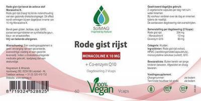 Etiket Solmag Rode gist rijst