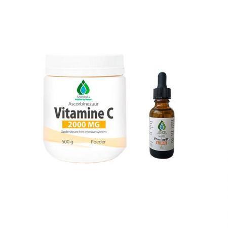 Vitamine C en Vitamine D3 5000IE aanbieding