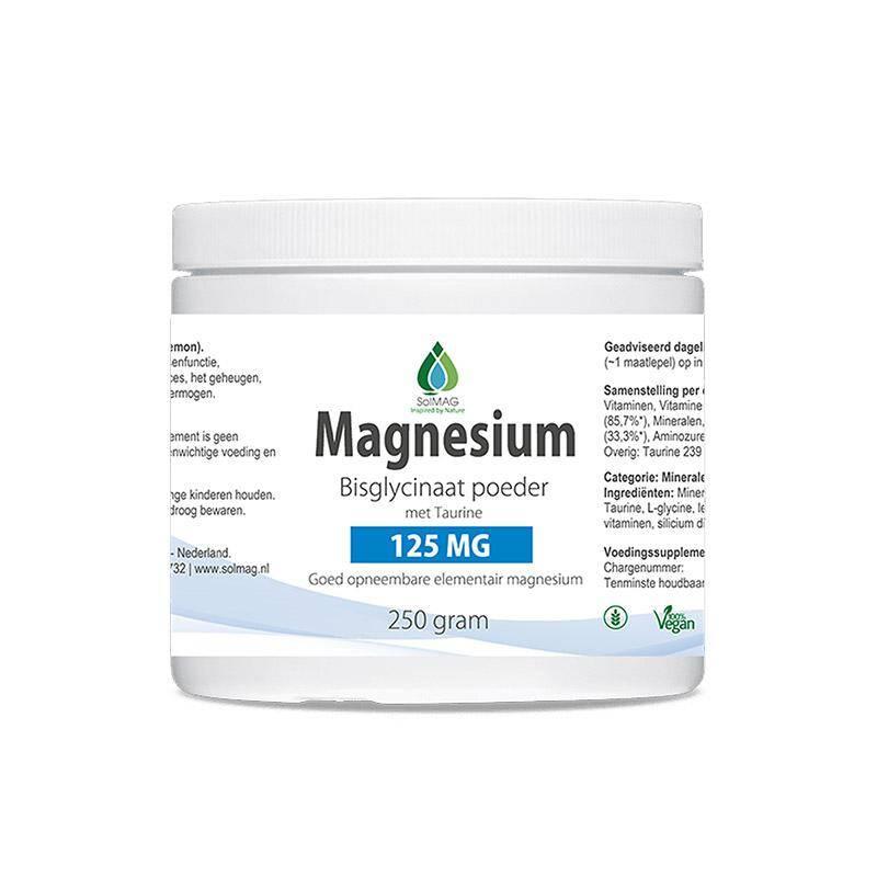 Magnesium bisglycinaat poeder van Solmag
