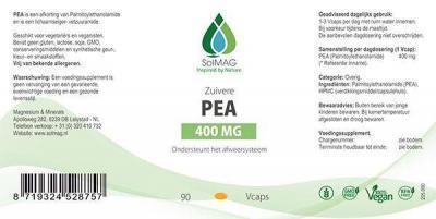 Etiket Solmag PEA 400 mg